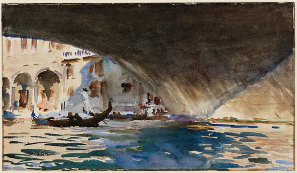 John Singer Sargent, Venice: Under the Rialto Bridge, 1909